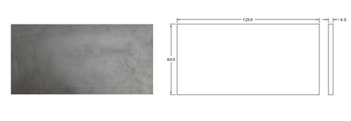 پنل بتن اکسپوز کف با ابعاد 60 *120 | دتایل پنل بتنی کف