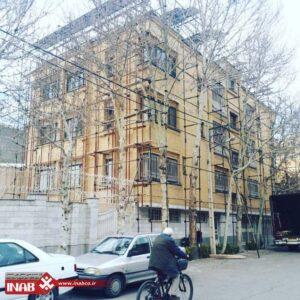 بازسازی نمای ساختمان مانا مشهد