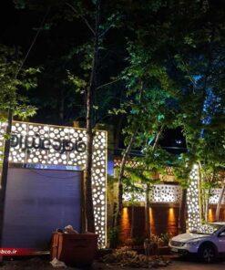 نمای جی اف ار سی رستوران خاطره عنبران مشهد | جی اف ار سی gfrc