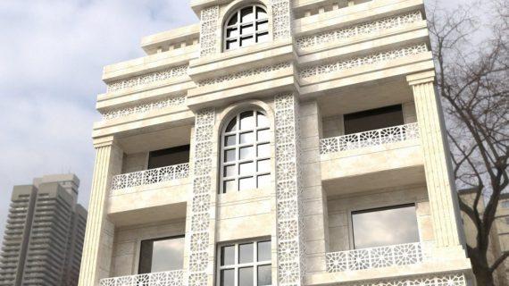 نمای ساختمان تلفیقی | نمای ساختمان ترکیبی | GFRC