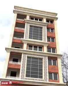 نمای ساختمان ترکیبی | آجر-جی اف ار سی