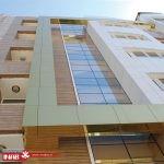 نمای ساختمان مسکونی   نمای ترکیبی