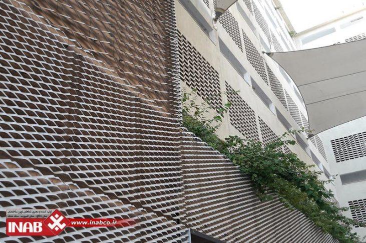 نمای استرچ متال | نمای ساختمان استرچ متال | استرچ متال | stretch metal