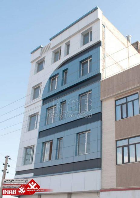 نمای کامپوزیت | نمای ساختمان 4 طبقه