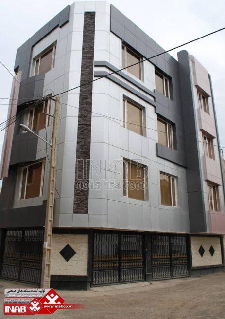 عکسی از نمای ساختمان اجرا شده با ورق کامپوزیت