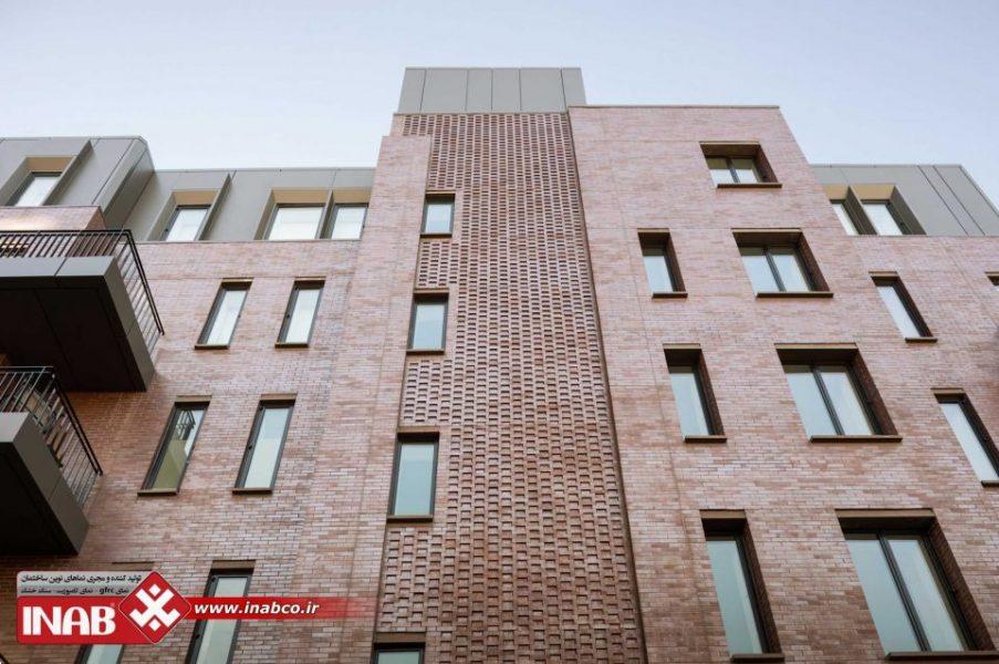 نمای آجری | آجر در نمای ساختمان | نمای آجری ساختمان | نمای ساختمان