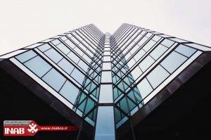 نمای ساختمان شیشه