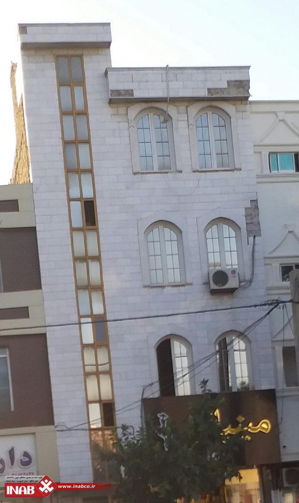 تعمیر نمای ساختمان | جداشدن سنگ از نما