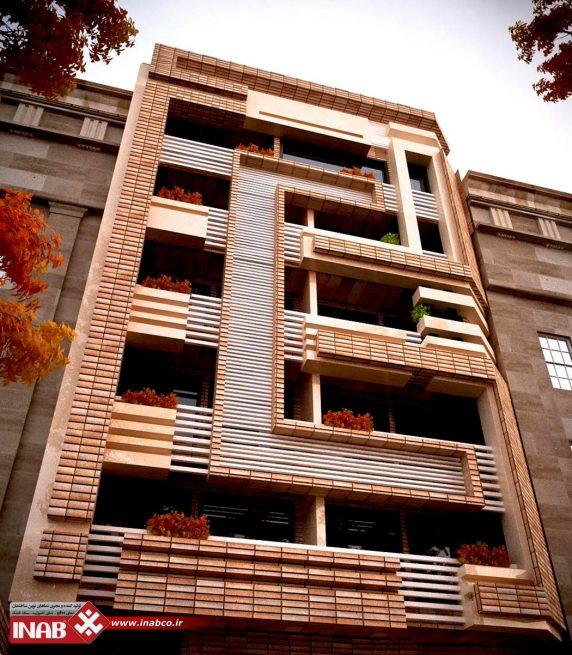 نمای ساختمان آجری | آجر