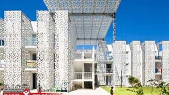 انواع نماهای ساختمانی جدید | متریال های جدید در نمای ساختمان