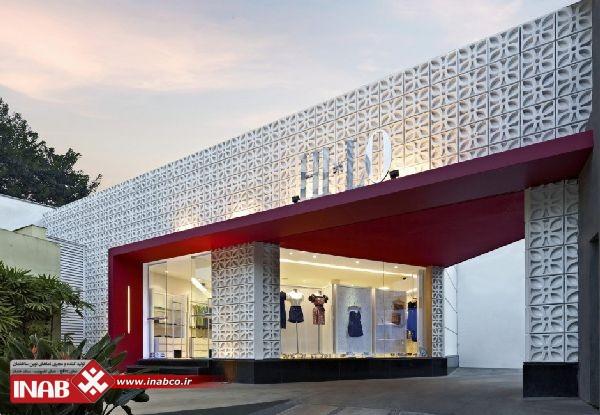 نمای جی ار سی | فروشگاه | مغازه | ساختمان مسکونی