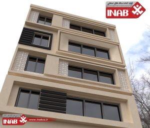 طرح نمای ساختمان   نمای ساختمان مسکونی grc   gfrc