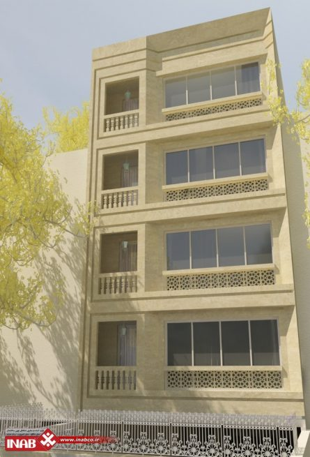 طرح نمای ساختمان سنگ
