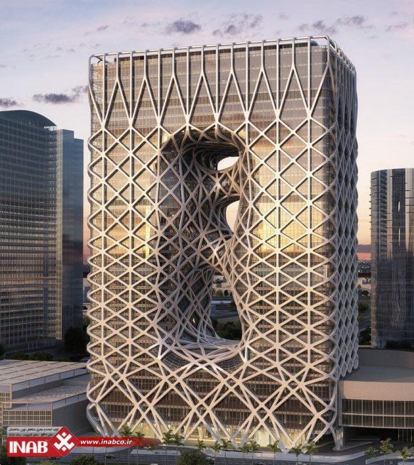 نمای ساختمان پارامتریک | مدرن