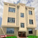 طراحی نمای ساختمان ویلایی دو طبقه | نمای ساختمان مسکونی دو طبقه