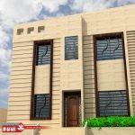 طراحی نمای ساختمان مسکونی یک طبقه   ویلایی
