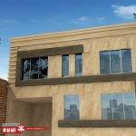 طراحی نمای ساختمان مسکونی   ویلایی   یک طبقه