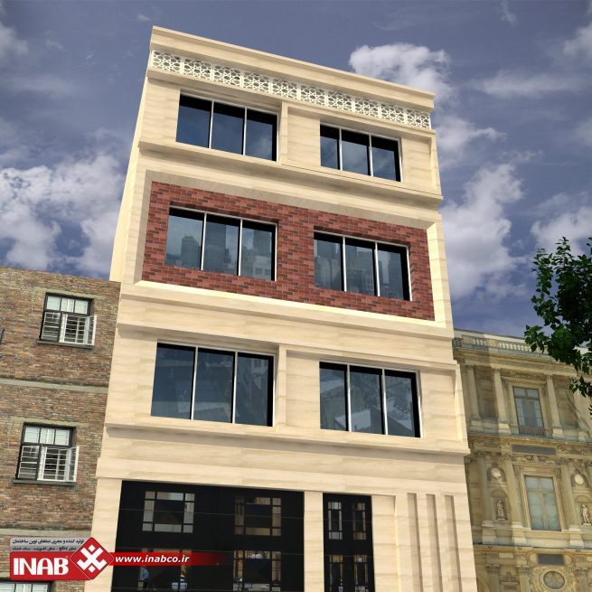 طراحی نمای ساختمان 3 طبقه | سه طبقه | مسکونی