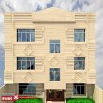 طراحی نمای ساختمان مسکونی سه طبقه   3 طبقه