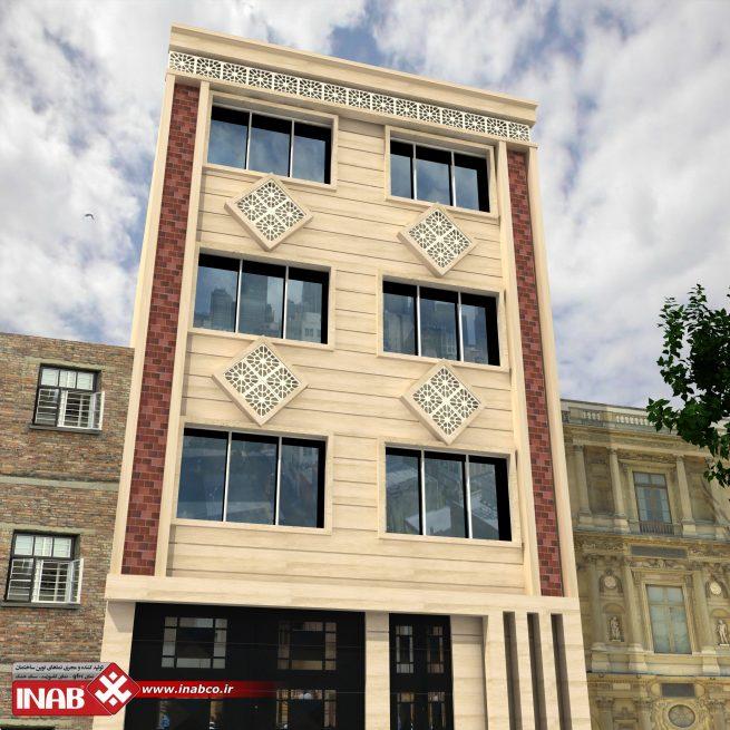 طراحی نمای ساختمان سه طبقه | 3 طبقه