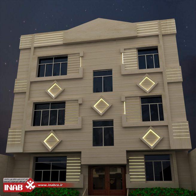 طراحی نمای ساختمان دو طبقه | مسکونی | 2 طبقه