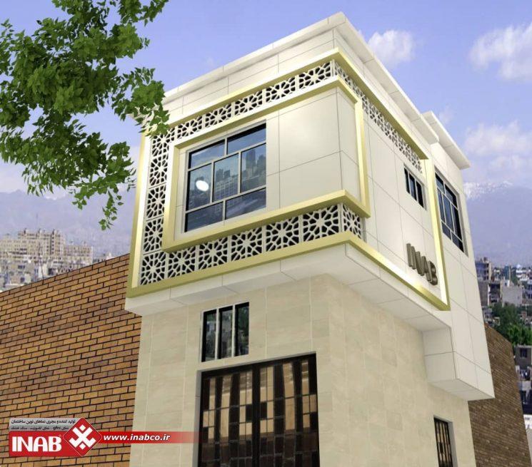 طراحی نمای ساختمان اداری | تجاری