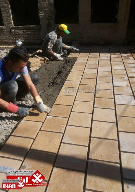 آجر سنگی کف | آجر سنتی | موزاییک