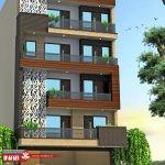 نمای مدرن   نمای ساختمان مسکونی