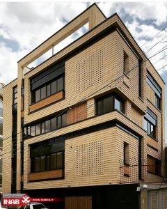 نمای ساختمان آجری مدرن