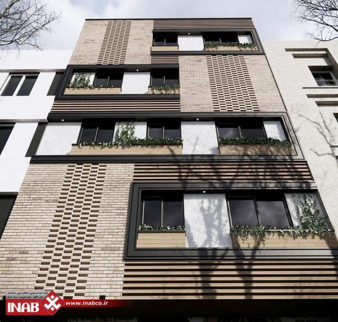 نمای مدرن | نمای آجری مدرن | مسکونی