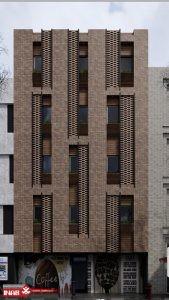 نمای ساختمان آجری مدرن | نمای مدرن