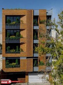 نمای ساختمان آجری مدرن | نمای ساختمان مسکونی