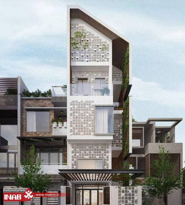 نمای ساختمان مدرن | نمای ساختمان مسکونی
