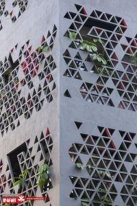 نمای ساختمان مشبک | نمای جی ار سی | gfrc | grc