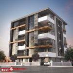 نمای ساختمان مدرن   نمای ترکیبی مدرن   جی ار سی