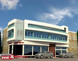 نمای محتمع تجاری   نمای ساختمان تجاری