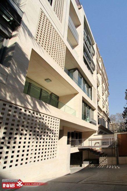 نمای ساختمان مشبک | نمای جی اف ار سی