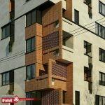 نمای ساختمان مسکونی مدرن | سر نبش