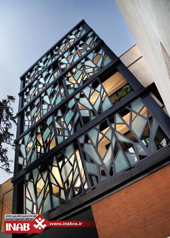 نمای ساختمان مسکونی مدرن   جی ار سی   grc