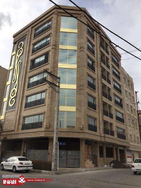 نرده تراس ساختمان مسکونی |جی اف ار سی |gfrc | grc