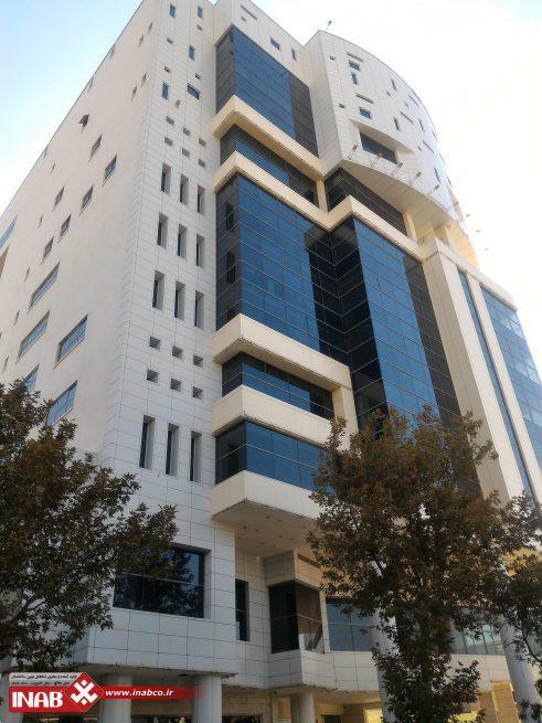 طراحی نمای ترکیبی کامپوزیت و شیشه   ساختمان اداری