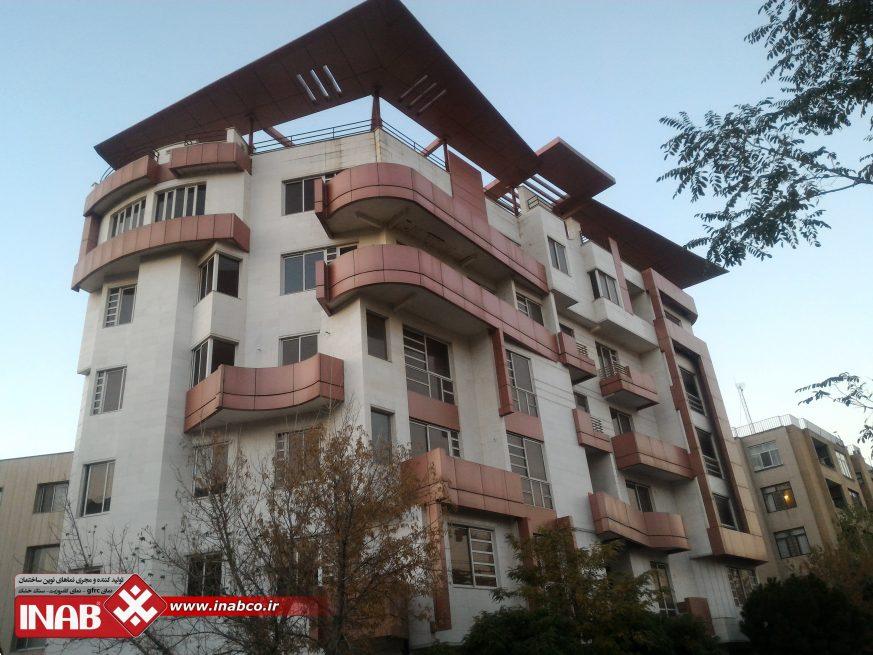 طراحی نمای ترکیبی کامپوزیت و سنگ   ساختمان مسکونی