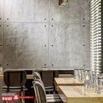 طراحی نمای داخلی با پنل های بتنی