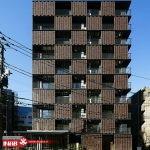 نمای ساختمان آجری   نمای مدرن
