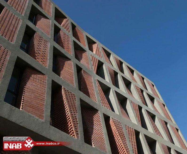 طراحی خلاقانه آجر در نمای ساختمان