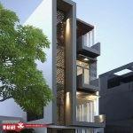 نمای ساختمان مسکونی مدرن