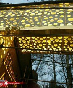 سردر ورودی رستوران با پنل جی اف ار سی
