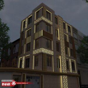 نمای ساختمان ترکیبی   جی اف ار سی