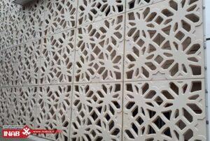 بازسازی نمای ساختمان   پنل های مشبک بتنی gfrc