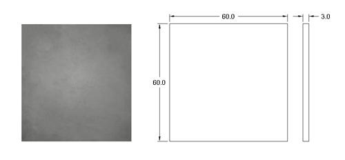 پنل بتن اکسپوز کف با ابعاد 60 *60  دتایل پنل بتنی کف